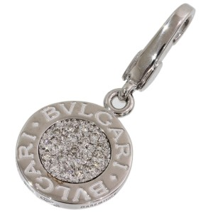 Bvlgari BB 18K White Gold Diamond Pendant