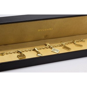 Bulgari 18K Yellow Gold Charm Bracelet