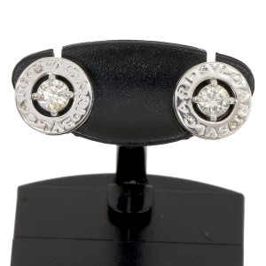 Bvlgari Bulgari 18K White Gold Diamond Earrings