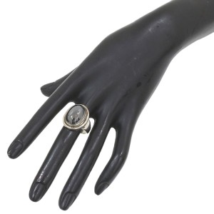 Sterling Silver Hematite Ring Size 8.75