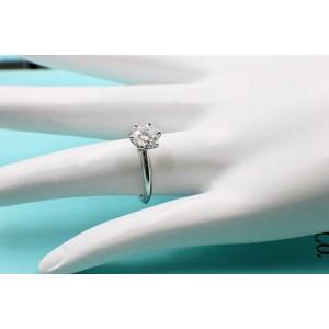 Tiffany & Co. 950 Platinum 1.04ctw. Diamond Engagement Ring Size 4.5