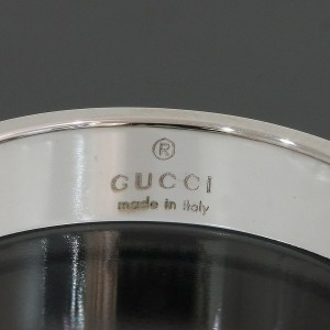 Gucci 18K White Gold Ring Size 7.25
