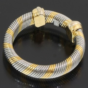 Cartier 18K Yellow Gold, Stainless Steel Ring Size 5.25