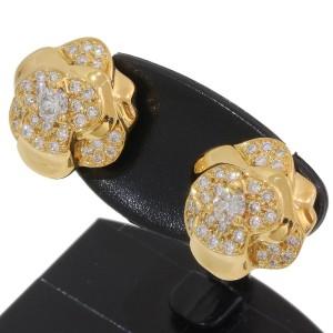 Chanel 18K Yellow Gold Diamond Earrings