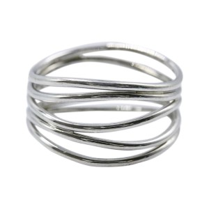 85be80b7f Tiffany & Co. Elsa Peretti 18K White Gold 5 Row Wave Ring Size 6.5 | Tiffany  & Co. | Buy at TrueFacet