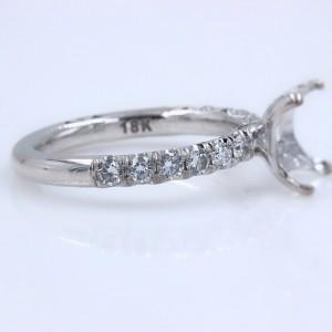 Tacori 18K White Gold Diamond Engagement Ring Size 6