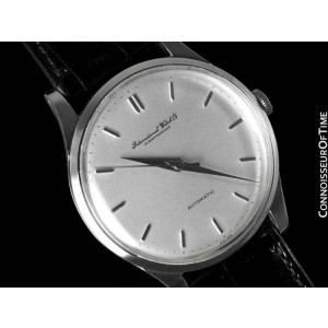 1952 IWC Vintage Mens Full Size Cal. 852 Stainless Steel Watch - Mint - Warranty