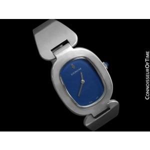 "Corum ""Love Bond"" Midsize Ladies Vintage Bangle Bracelet Watch - Sterling Silver"