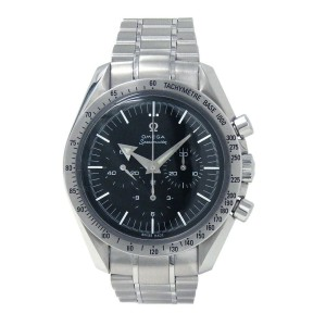 Omega Speedmaster Broad Arrow Stainless Steel Automatic Chronograph Watch 359450