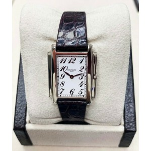 Patek Philippe Ladies Gondolo Ref 4824G 18K White Gold Box & Papers