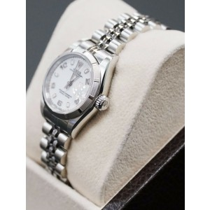 Rolex Ladies Date 79190 Stainless Steel White Dial Box & Papers