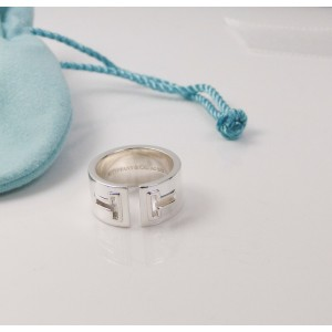 c8cc96b3f NEW Tiffany T Cutout Ring Silver Size 6- Retired- Retail $575 | Tiffany & Co.  | Buy at TrueFacet