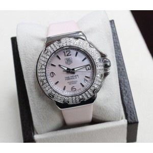 Tag Heuer Ladies Formula One WAC1216 Stainless Steel Pink MOP Dial Diamond Bezel