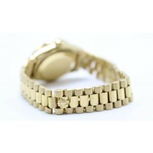 Rolex Ladies President DateJust 6917 Diamond Bezel 18K Yellow Gold