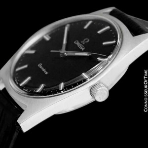 1970 OMEGA GENEVE Vintage Mens Stainless Steel Watch - Minty with Warranty