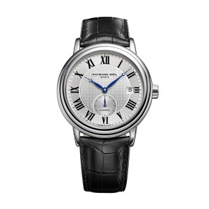 Raymond Weil Maestro 2838-STC-00659 Leather Strap 39.5mm Mens Watch