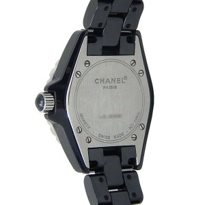 Chanel J12 Black Ceramic Quartz  Ladies Watch H1634