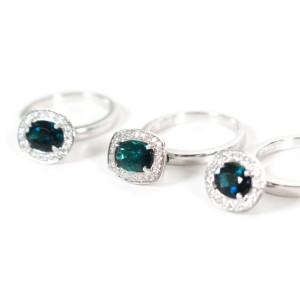 Sonia Bitton - Set of 3 Rings - 18K White Gold - Tourmaline Diamond - US 6.5