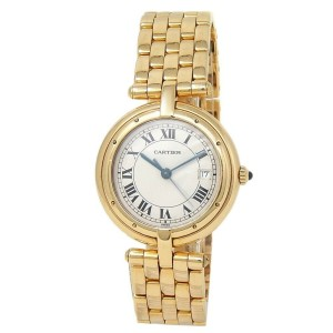 Cartier Panthere 18k Yellow Gold Quartz White Ladies Watch 883964