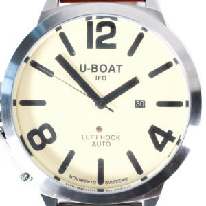 U-Boat - Classico Watch + Extra Band 53mm Tan Face Leather Silver Left Hook Auto