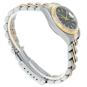 Rolex Datejust 18k Yellow Gold Steel Jubilee Automatic Blue Ladies Watch