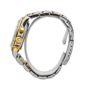 M'ens Rolex Daytona Cosmograph 40 18k Yellow Gold, Steel, White Dial 116523-0057