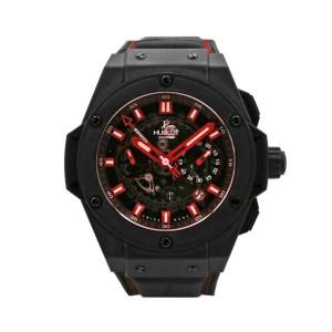Hublot King Power Big Bang 48mm, Microblasted black ceramic, Red dial, 701.C1.11