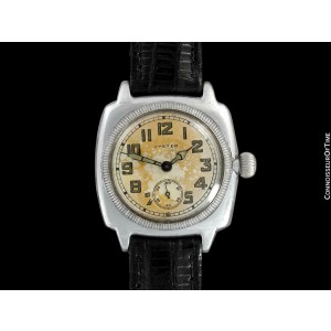 1926 ROLEX Rare Very Early Oyster Vintage Mens Stainless Steel Watch - Warranty