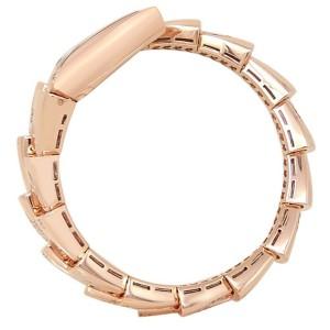 Bvlgari Serpenti 18k Rose Gold Quartz Diamonds MOP Ladies Watch SPP26WGD1GD1.1T