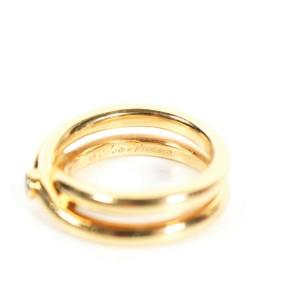 Tiffany - Diamond Ring - Paloma Picasso - 18K Yellow Gold Criss Cross - US 7