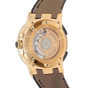 Ulysse Nardin Executive Dual Time 18k Rose Gold Silver Men's Watch 246-00/421