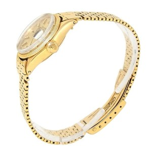 Rolex Vintage Date 18k Yellow Gold Automatic Champagne Ladies Watch