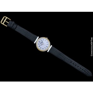 Hermes Windsor Unisex Mens Stainless Steel & 18K Gold Plated - Mint w/ Warranty