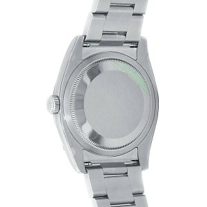 Rolex Datejust Turn-O-Graph Stainless Steel Oyster Auto Black Men's Watch 116264