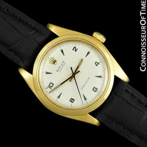 ROLEX OYSTER Vintage Mens 18K Gold Plated Watch - Mint with Warranty