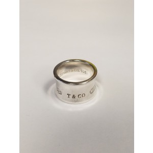 Tiffany & Co. 925 Sterling Silver Wide Ring Size 7