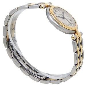 Cartier Panthere 18k Yellow Gold Steel Quartz White Ladies Watch 183964