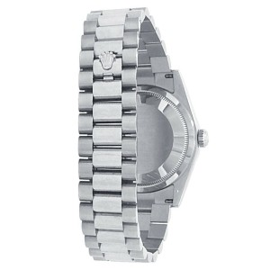 Rolex Day Date 18k White Gold President Automatic White Men's Watch 118239