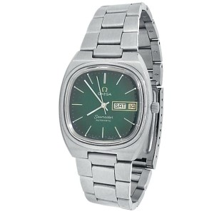 Omega Vintage Seamaster Stainless Steel Automatic Green Men's Watch 366.0845
