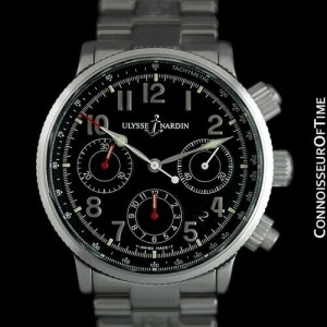 ULYSSE NARDIN MARINE Chronograph Chronometer Automatic Stainless Steel Watch