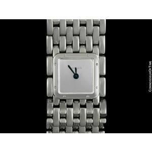 CARTIER RUBAN Ladies Quartz Stainless Steel Bracelet Watch - Mint with Warranty