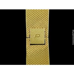 1969 PIAGET Vintage Mens Large 18K Gold & Diamond Watch with Tiger Eye Dial