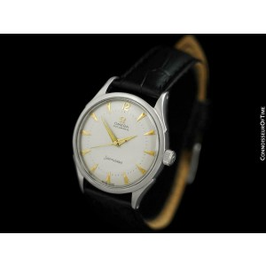 1950 OMEGA SEAMASTER Vintage Mens Cal. 351 SS Steel Watch - Mint with Warranty