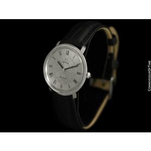 1974 OMEGA DE VILLE Vintage Mens SS Steel Handwound Watch - Mint with Warranty