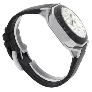 Waltham AeroNaval Stainless Steel Leather Automatic Silver Men's Watch AN-01