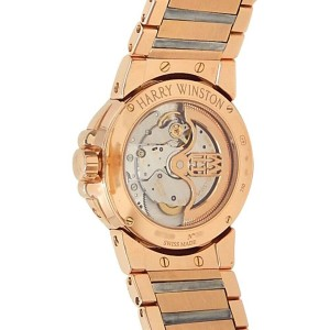 Harry Winston Ocean Lady Biretrograde 18k Gold Diamonds Ladies Watch 400-UABI36R
