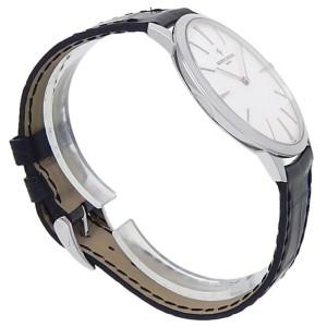 Vacheron Constantin Patrimony 18k White Gold Leather Silver Men Watch 81180/000G