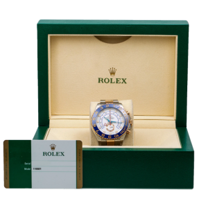 ROLEX YACHT MASTER II TWO TONE WATCH 116681 - STEEL / ROSE GOLD - BOX AND CARD