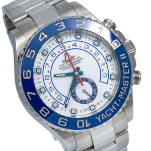 ROLEX YACHT MASTER II WATCH STAINLESS STEEL BLUE HANDS 116680