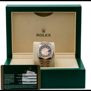 ROLEX DATEJUST 116231 WATCH 36MM PINK TUXEDO DIAL TWO TONE ROSE JUBILEE BRACELET